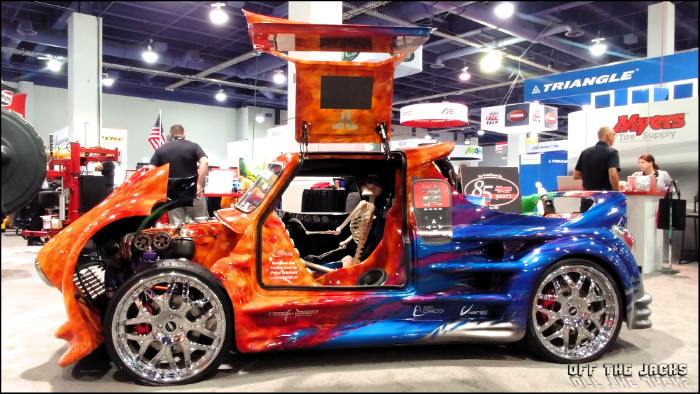 custom mini cooper truck at sema