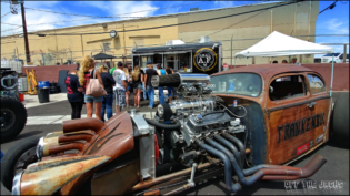 Frankenbug rat rod at WelderUp Open House