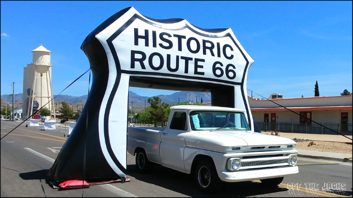 Old truck under the Route 66 sign