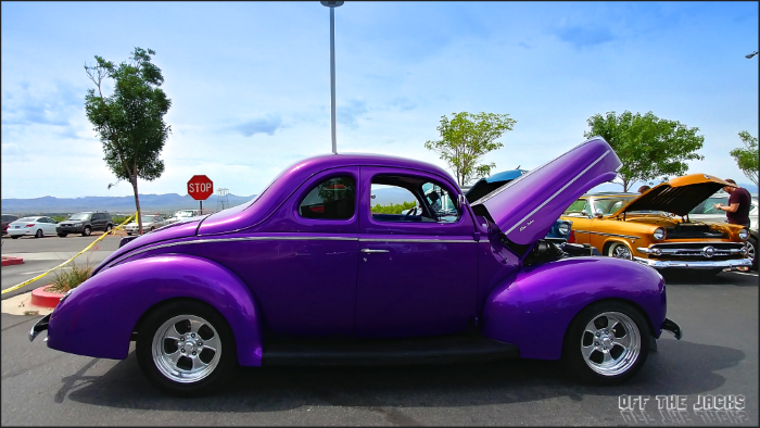 old purple ford coupe