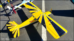 Yellow and black remote controlled plane